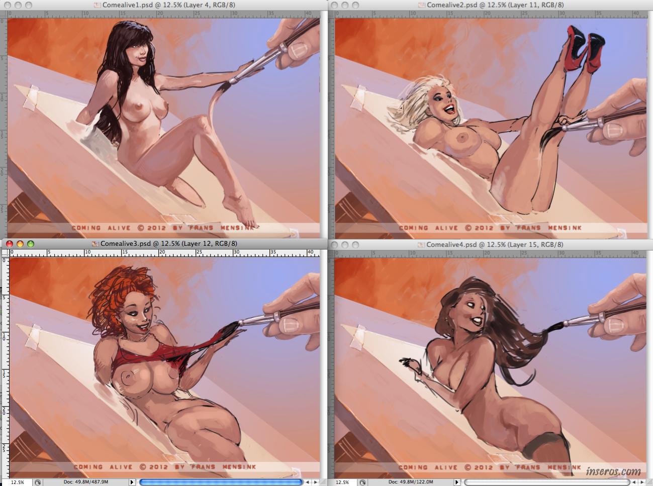 Рисовать голых девушек 18 фотография