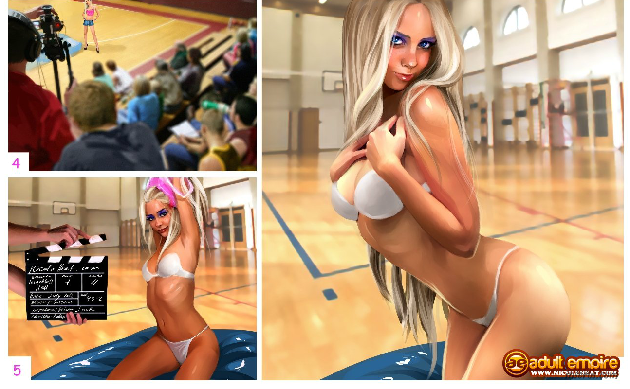 порно комикс про блондинку николь