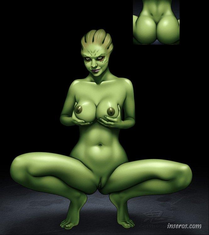 Порно рисунки с героями компьютерной игры Mass Effect - секс с космическими