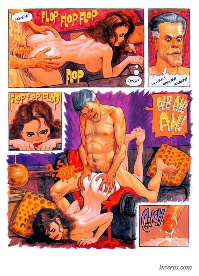 ретро порно комикс
